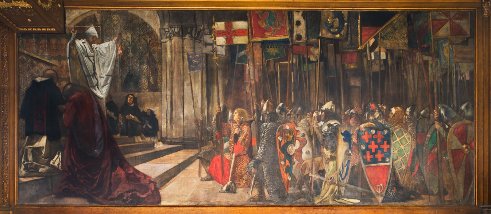 Edwin austin abbey the quest for the holy grail part 4 for 13 knights of the round table