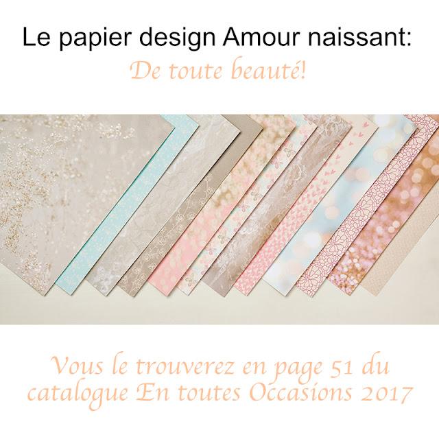 papier design amour naissant