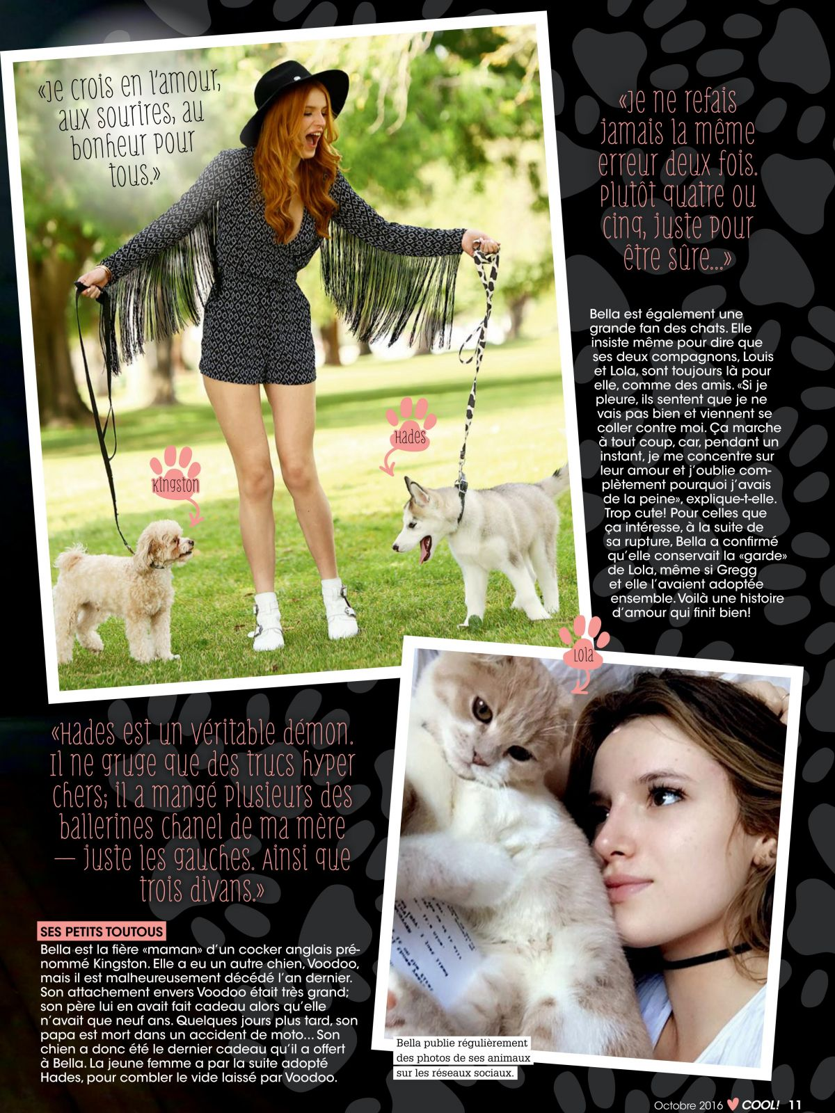 Bella Thorne PhotoShoot for Cool Magazine France October 2016 Issue