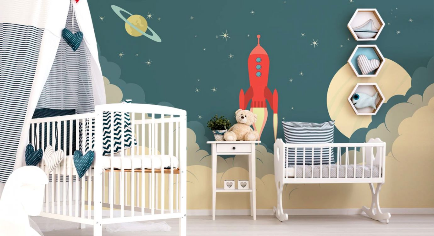Kids Bedroom Baby Mural Wallpaper Design Wallpapers Moving