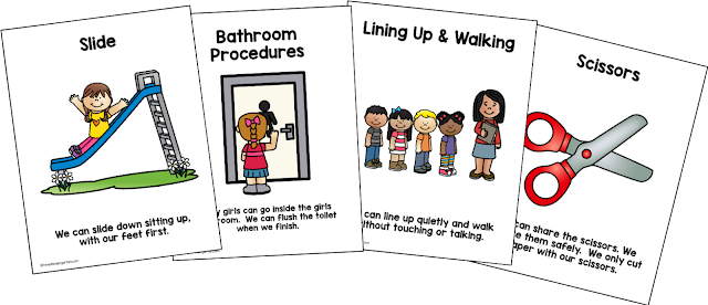 posters for school rules and procedures