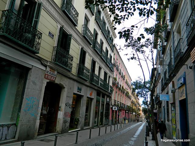 Rua do bairro de Malasaña, Madri