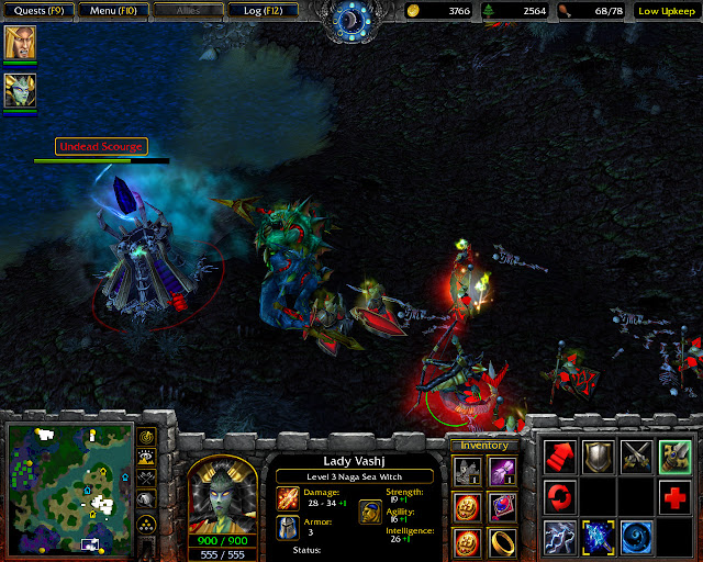 A Dark Covenant Mission 10 | Lady Vashj Hero Screenshot | Warcraft 3: The Frozen Throne