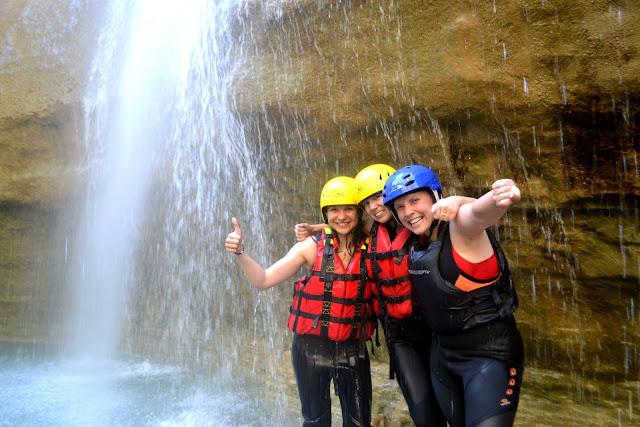 Rafting on Osumi, Albania