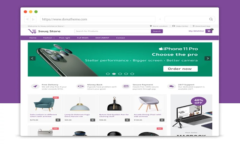 Souq Store eCommerce Blogger Template - Responsive Blogger Template