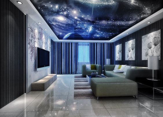 Best 50 stretch ceiling design ideas for living room ...