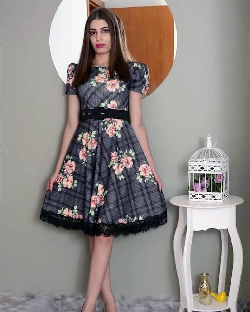 vestido midi loja flor de amêndoas- moda evangélica