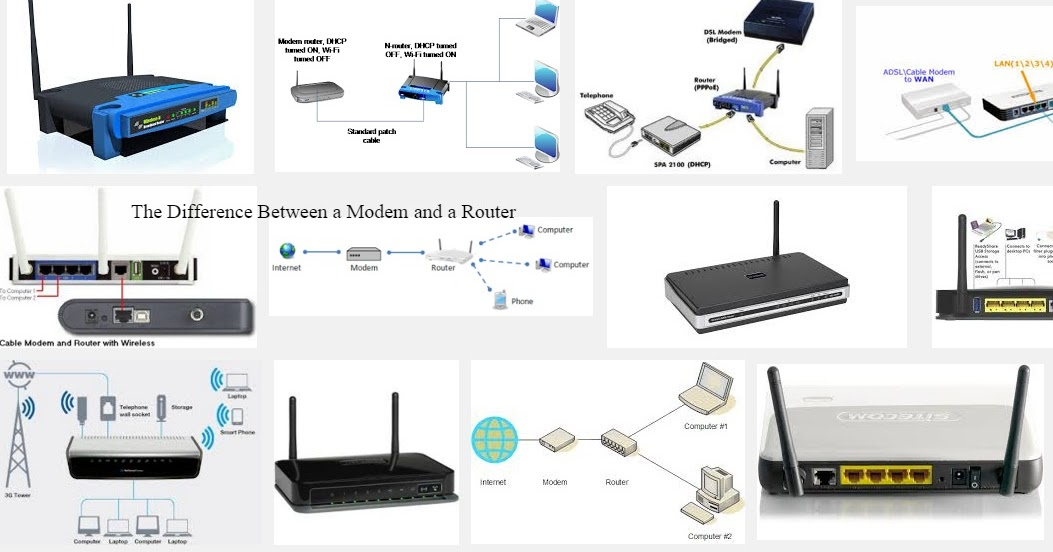 2020TECH: See The Difference Between a Modem and a Router