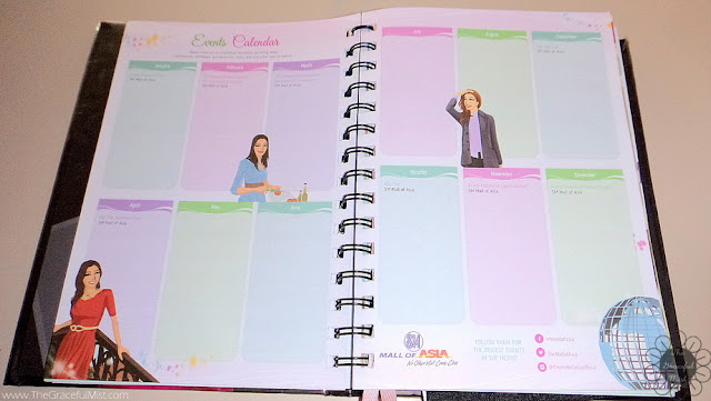 2016 Belle De Jour Power Planner:  Events Calendar Page Picture (Review at http://www.TheGracefulMist.com/)
