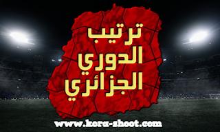 جدول مباريات وترتيب فرق الدوري الجزائري ونتائج مباريات اليوم