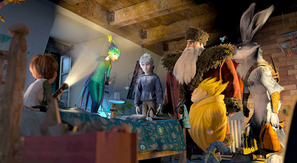 Group shot of the Guardians in Rise of the Guardians animatedfilmreviews.filminspector.com