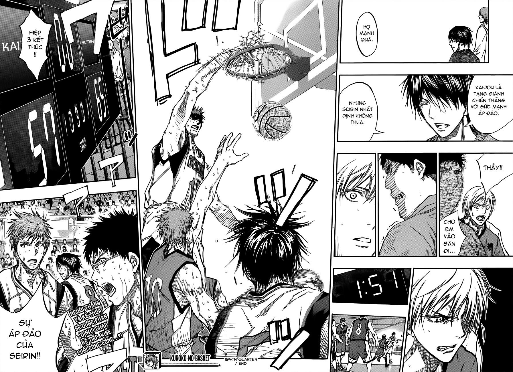 Kuroko No Basket chap 194 trang 18