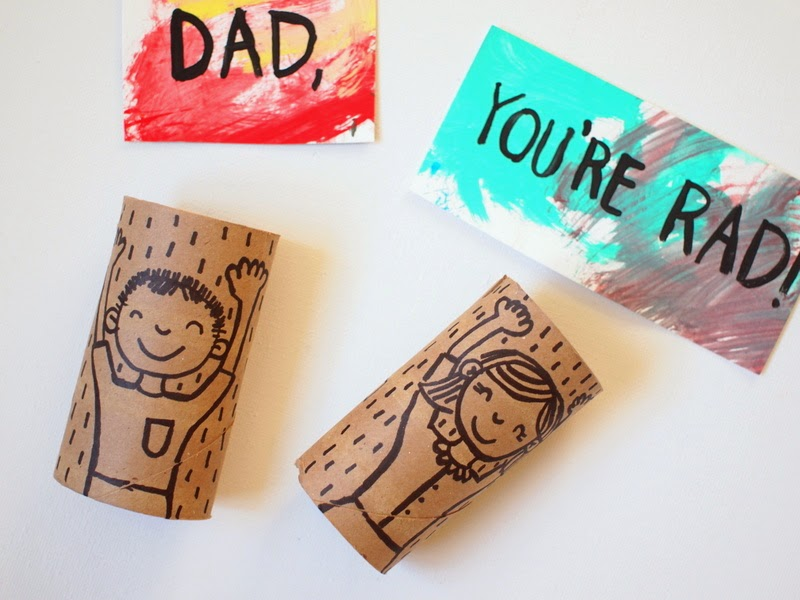 let's make Father's Day Cards from toilet paper rolls