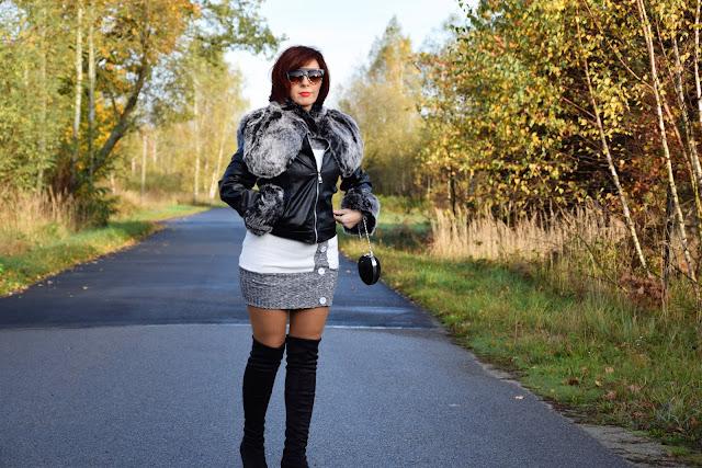 DRESSLILY | jacket, kurtka z futerkiem.