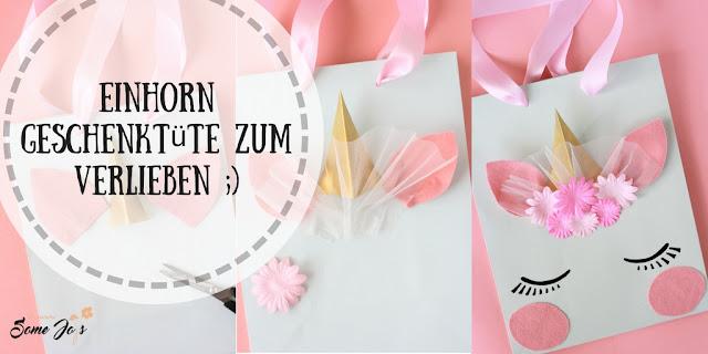 DIY Einhorn Geschenktüte basteln - somejoys