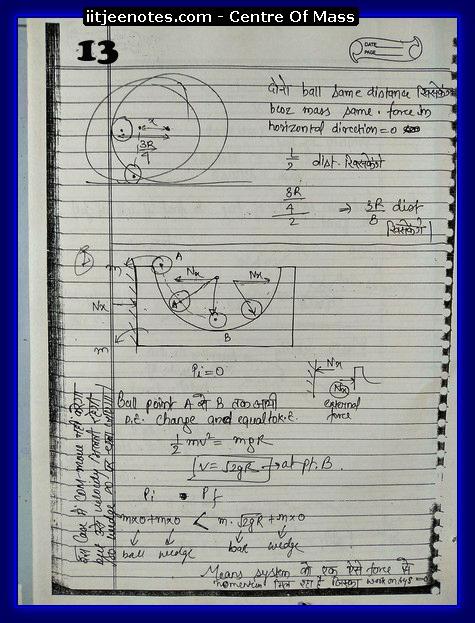 Center Of Mass Notes 3