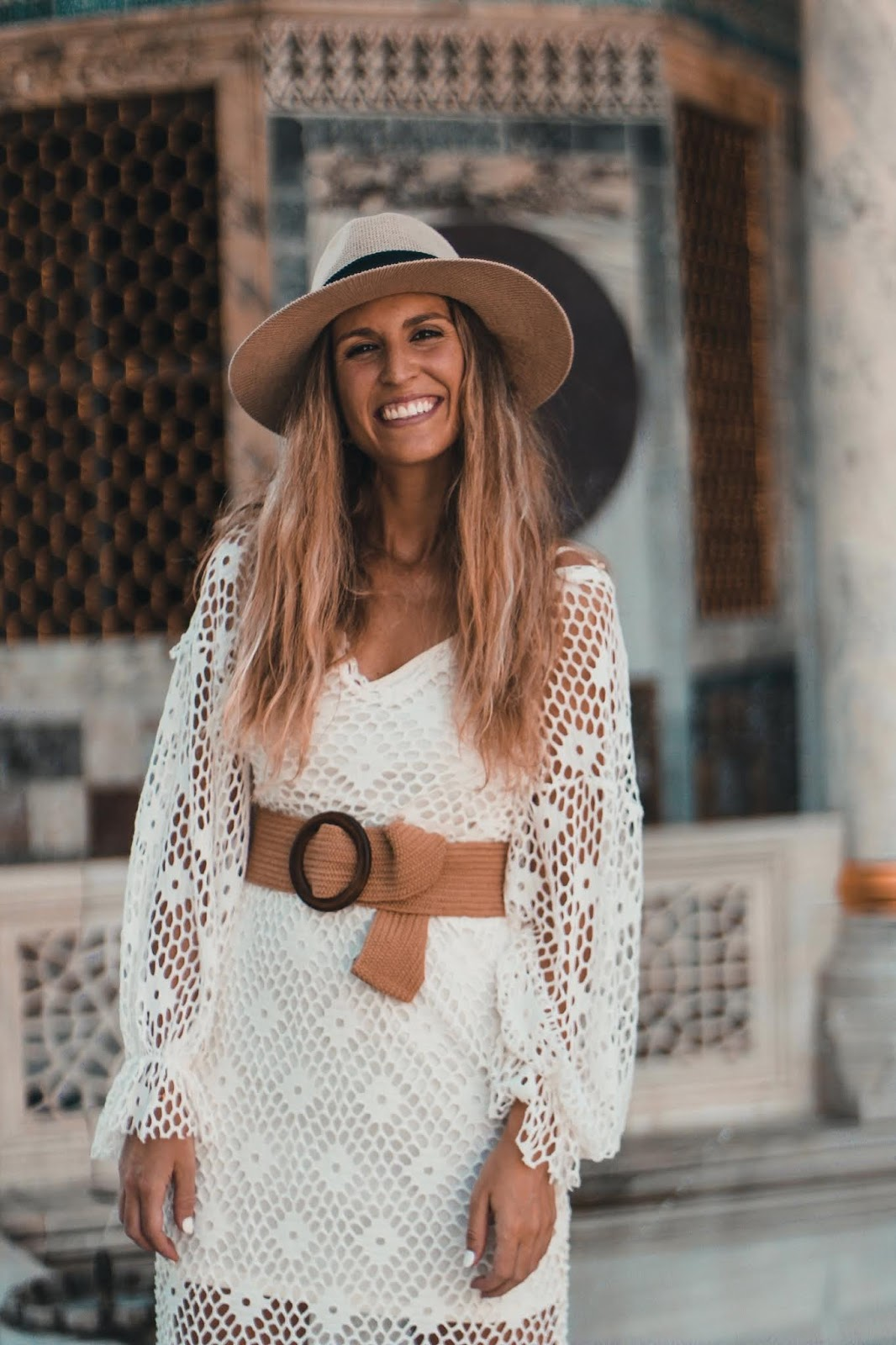vestido ganchillo Zara
