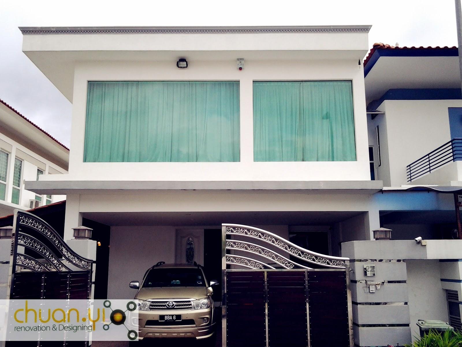 Modern House Car Porch Tiles Design