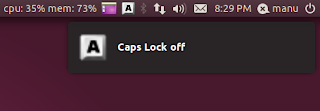 Keylock Application Indicator Ubuntu 11.04