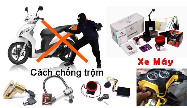 Các loại thiết bị chống trộm xe máy
