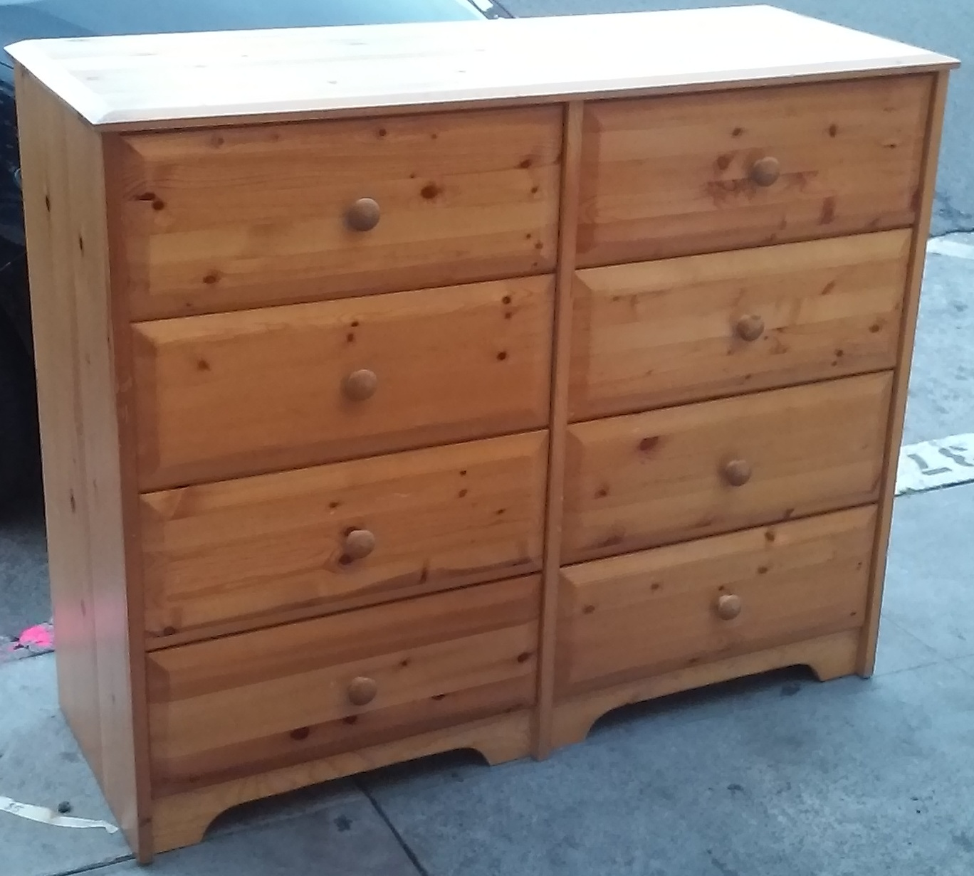uhuru furniture collectibles sold knotty pine double dresser 140