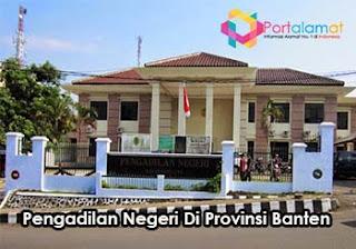 Alamat Kantor Pengadilan Negeri Di Banten
