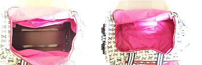 pink lining, wheelie luggage, wheelie case