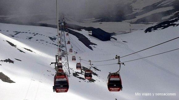 Estación de esquí Stubaier-Gletscher, Tirol, Austria