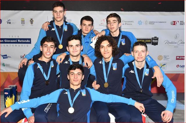 Foggia Fencing 2019. Campionati Europei Giovanili. Doppio oro con la sciabola e la spada. Ancora un oro foggiano targato Nardella