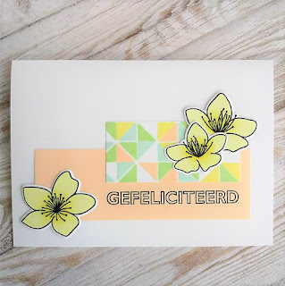 Congratulations card with stamps from PPP and Carlijn Design