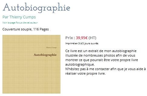 autobiographie - Thierry Cumps