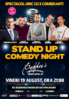 Stand-Up Comedy Bucuresti vineri 19 August