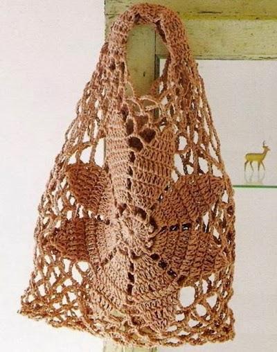 Bolso Flor Central Crochet Patron
