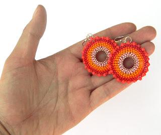 бисерные серьги купить в интернет магазине бижутерии ручной работы