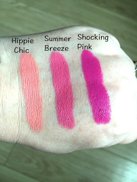 NYX Matte Lipsticks swatches