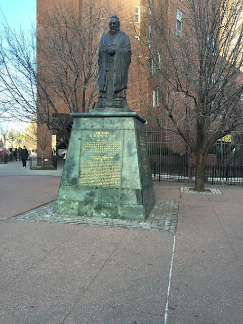 Chinatown NYC Statue of Confucius
