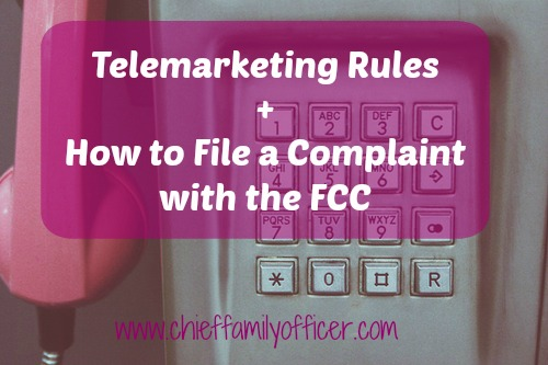 Telemarketing Rules | Chief Family Officer