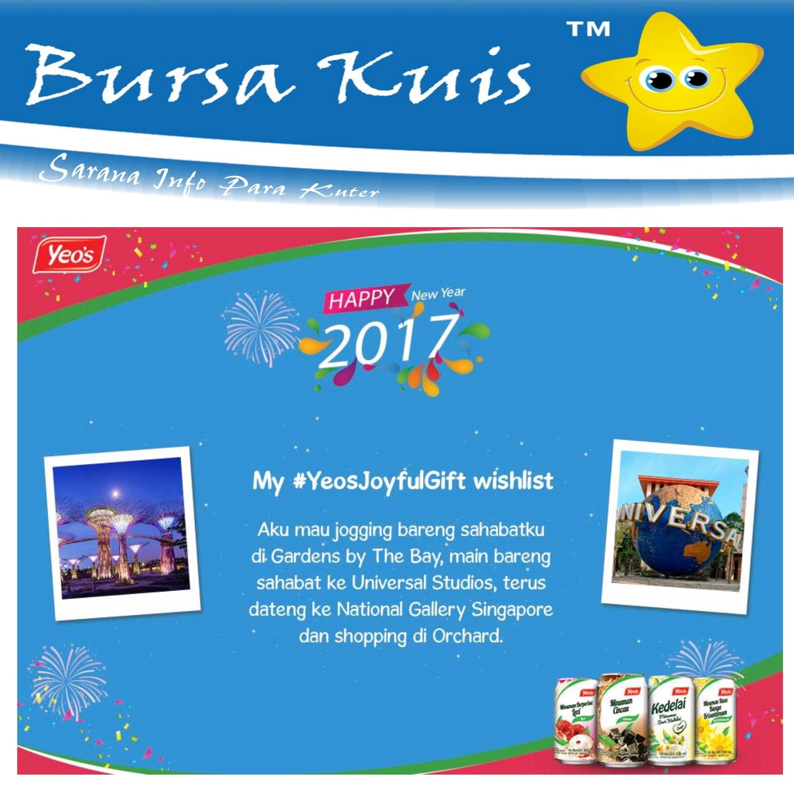 Kuis Yeos Joy Ful Gift Competition Berhadiah Liburan