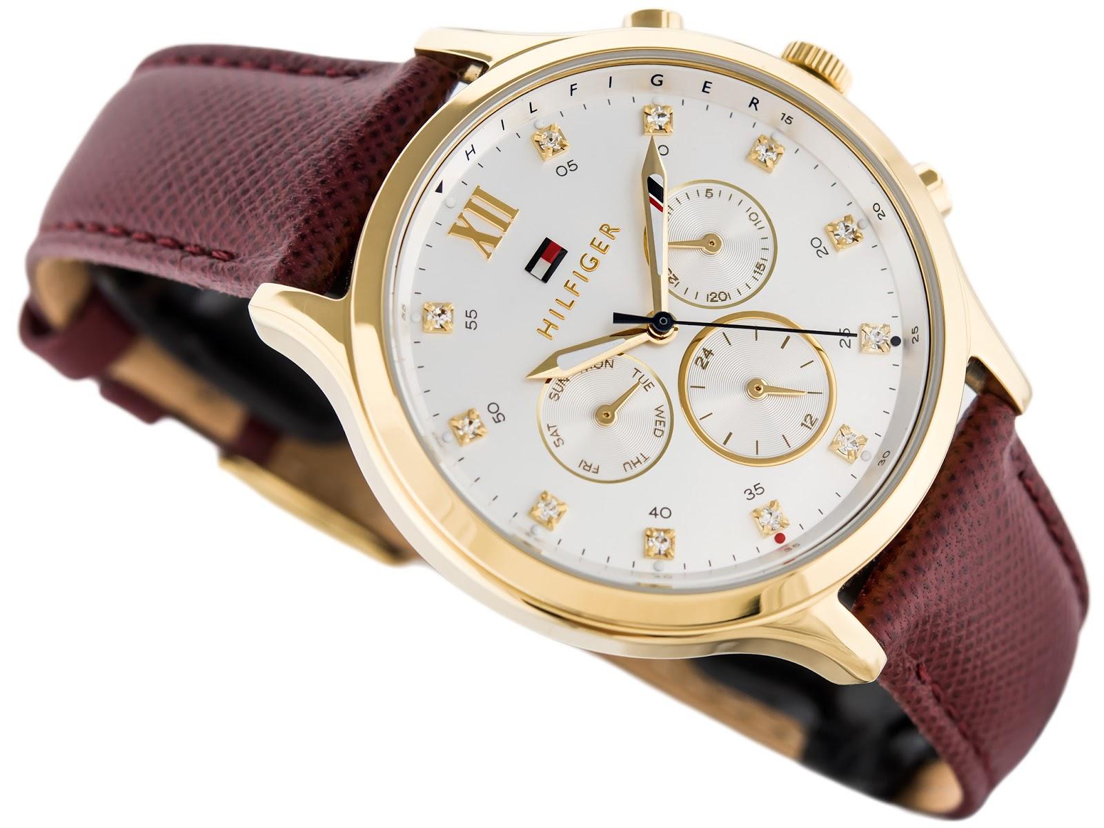 80fc2983f50 Relógio Tommy Hilfiger Feminino Couro Vinho - 1781614 - R  354