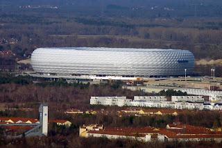 Allianz Arena desde la Olympiaturm.