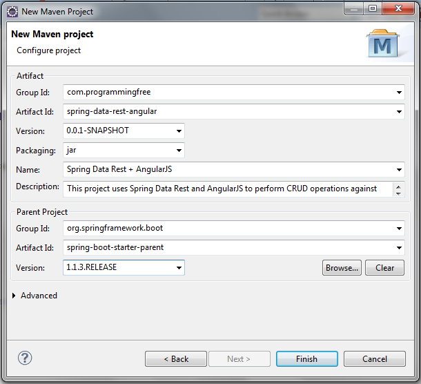 CRUD using Spring Data Rest and AngularJS using Spring Boot - DZone