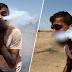 Silinder gas pemedih mata melekat di mulut lelaki Palestin