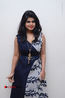 Telugu Actress Alekhya Stills in Blue Long Dress at Plus One ( 1) Audio Launch  0070.jpg