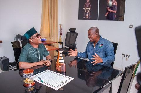 Comedian Osuofia Visits Ghana President, Mahama
