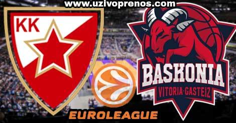 EVROLIGA: Crvena zvezda - Baskonija LIVE PRENOS ONLINE