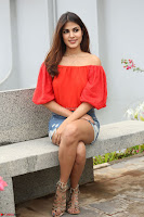 Rhea Chakraborty in Red Crop Top and Denim Shorts Spicy Pics ~  Exclusive 321.JPG
