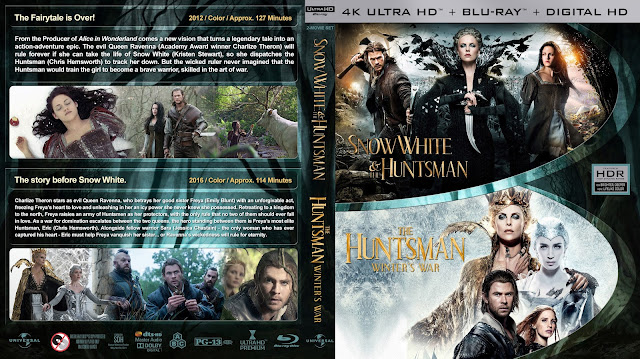 Snow White & the Huntsman / The Huntsman: Winter's War Double Feature 4k Bluray Cover