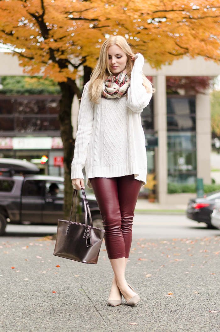 How To Style Leather Leggings Vancouver Style Blog The