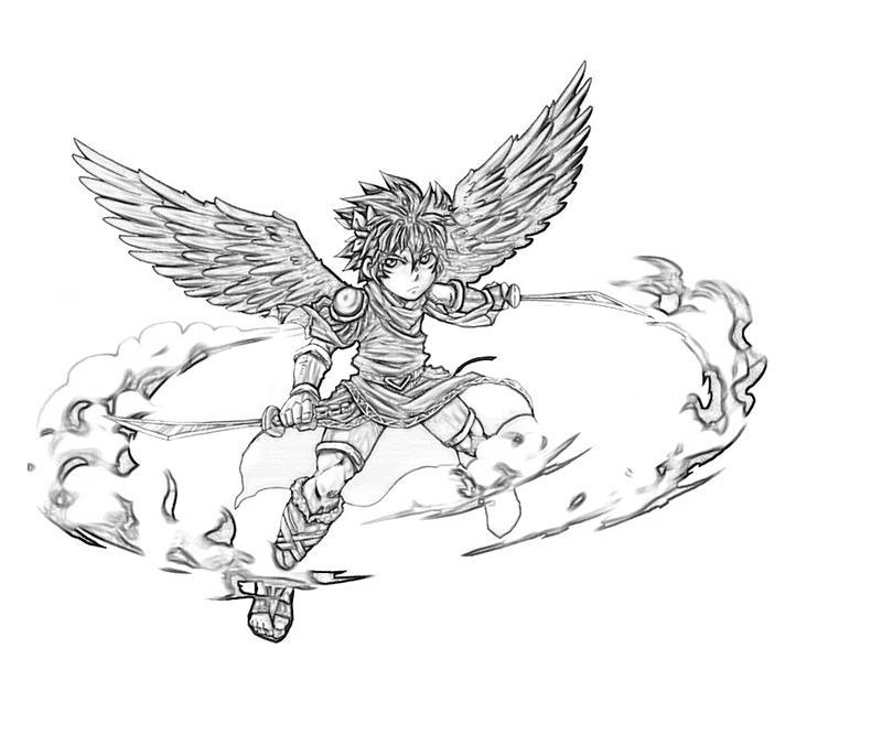 Kid Icarus Dark Pit Weapon Mario