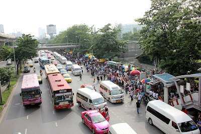 Bangkok Skytrain bis Mo Chit Station Chatuchak Markt